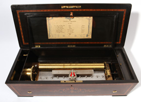 "Swiss 17 1/4"" Cylinder Music Box"
