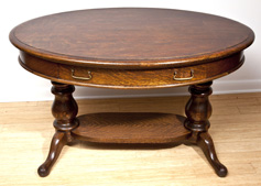Fine Oval Oak Library Table