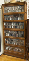 Six Stack Leaded Glass Bookcase
