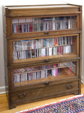 Oak Arts and Crafts Three Stack Bookcase
