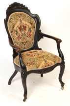 Belter Shield Back Arm Chair