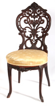 Rosewood Victorian Laminated Ladies Chair