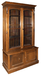 Large Walnut Victorian Bookcase