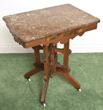 Eastlake Victorian Marble Top Table