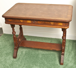 Walnut Victorian Library Table