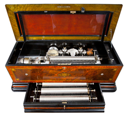 Large Swiss Interchangable Cylinder Music Box