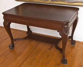 Carved Mahogany LibraryTable