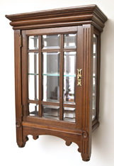 Eastlake Beveled Glass Hanging Cabinet