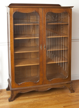 Oak Two Door Bookcase