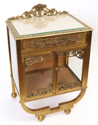 Small Unusual Brass Display Case