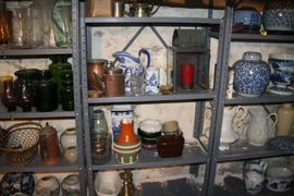 SHELVES OF ANTIQUES