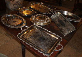 SEVERAL PCS. SILVERPLATE