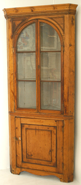 Early Pine Corner Cupboard