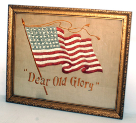Embroidered Old Glory Needlework
