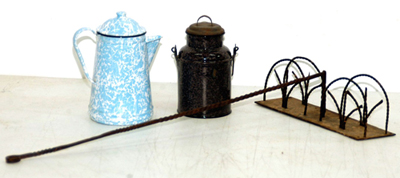 Early Iron Toaster & Graniteware