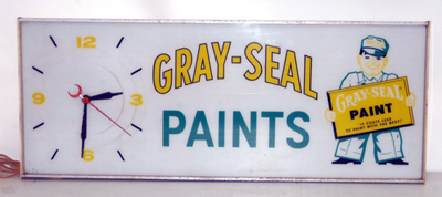 Advertising Gray Seal Paints Clock