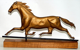 "Early 31"" Full Bodied Horse Weathervane"