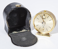 Cased LeCoultre Travel Clock