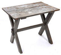 Early Sawbuck Table in Old Paint