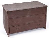New England Blanket Chest w/Old Brown Paint