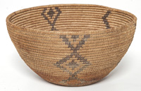 Deocrated Paiute Basket