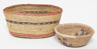 Two Miniature Indian Baskets