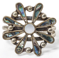 Silver & Mother of Pearl Cuff Bracelet
