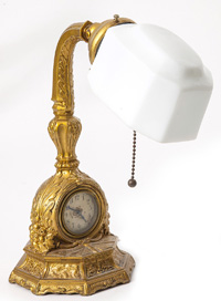 Art Nouveau Clock Desk Lamp