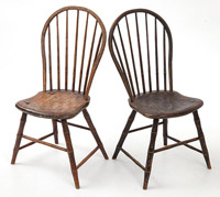 Pair Decorated Windsor Chairs