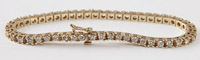 Solid 14k Yellow Gold Tennis Bracelet