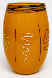 Donald Carlson Art Glass Vase