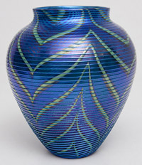 Large Orient & Flume Art Glass Vase
