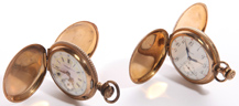 TWO WORCESTER WATCH CO. LADIES'  WATCHES