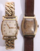 TWO ELGIN VINTAGE WRIST WATCHES