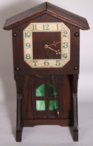 SHOP OF THE CRAFTERS ARTS & CRAFTS CLOCK