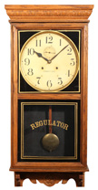 WATERBURY HANGING REGULATOR CLOCK