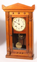 SCARCE WEIGHT DRIVEN INDUS WALNUT VICTORIAN KITCHEN CLOCK