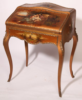 LATE 19TH CENTURY VERNIS MARTIN DESK