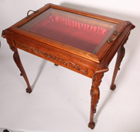 1920's CARVED DISPLAY TABLE