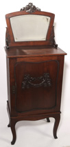 CARVED VICTORIAN CHERRY MUSIC CABINET