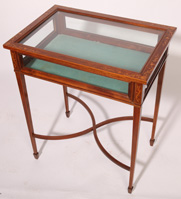 CIRCA 1920 INLAID TABLE VITRINE