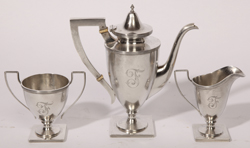 STERLING SILVER 3-PIECE TEA SET