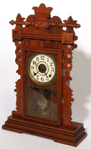 MAHOGANY KITCHEN CLOCK