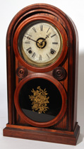 RARE A.D. SMITH CINCINNATI ROSEWOOD SHELF CLOCK