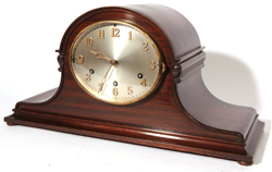 GERMAN CHIMING TAMBOUR SHELF CLOCK