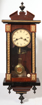 MINIATURE VIENNA REGULATOR CLOCK W/MUSIC BOX