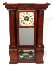 H. WELTON HOLLOW COLUMN SHELF CLOCK