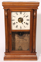 SETH THOMAS HALF COLUMN SHELF CLOCK