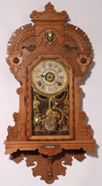 SETH THOMAS OAK HANGING GINGERBREAD CLOCK