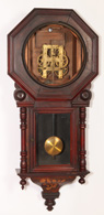 NEW HAVEN ROSEWOOD HANGING REGULATOR CLOCK